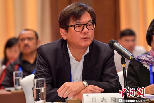 台湾中央社副社长吕志翔发言。 骆云飞 摄