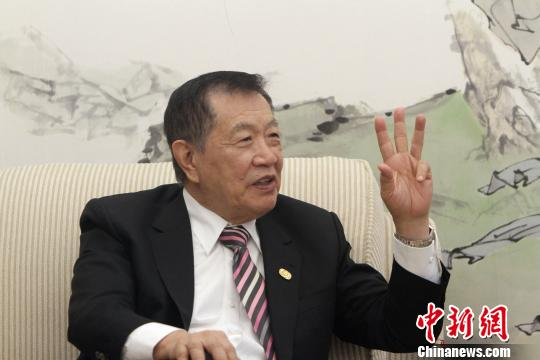 """""""华裔神探""""李昌钰。 张道正 摄"""