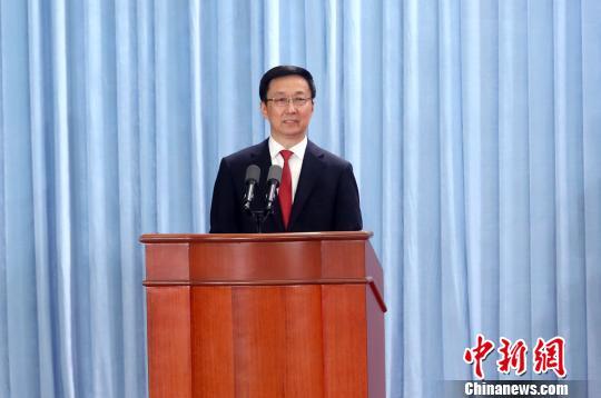 图为中共上海市委书记韩正发表讲话。 汤彦俊 摄