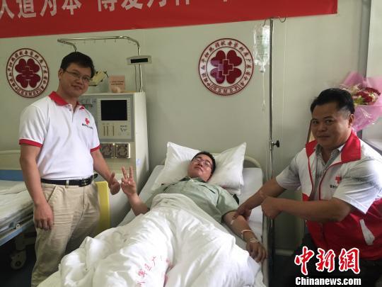 广东梅州首例现役武警志愿者成功捐献造血干细胞