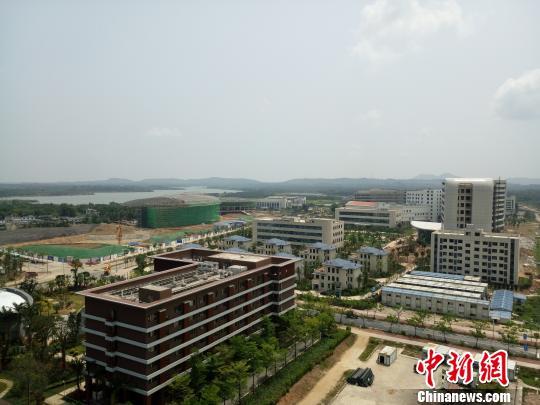 3月28日拍摄的海南博鳌乐城国际医疗旅游先行区。 尹海明 摄