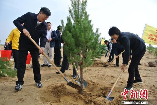 世界地球日中国第七大沙漠植树5万株