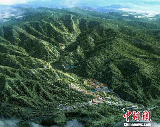 延庆赛区整体效果图。北京市重大办提供