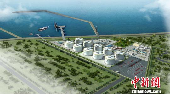 江苏滨海LNG项目规划图。