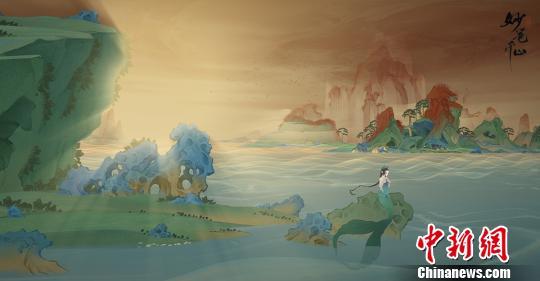 《绘真·妙笔千山》以故宫藏品青绿山水画《千里江山图》为创作蓝本的互动叙事类游玩 钟欣 摄