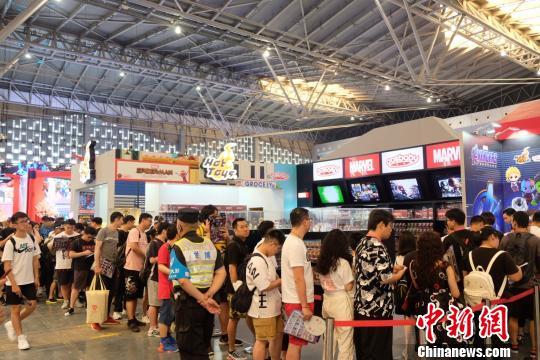 CCG EXPO 2019掀起动漫游戏文化消费狂欢。 王笈 摄