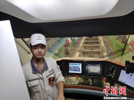 磁浮列车操控台。 王昊昊 摄