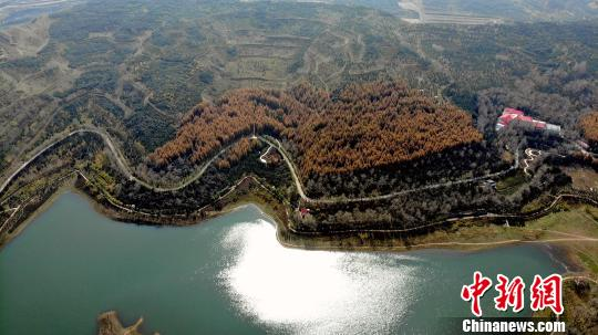 图鹤隳依山傍火的莲花湖景区一角。 赵凛紧 摄