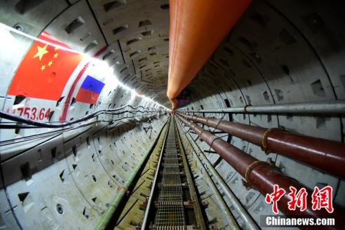 隧道内中俄过境点(由中方前往俄方)