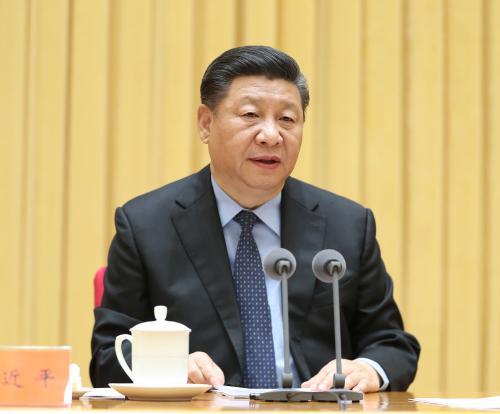 5月18日至19日,全国生态环境保护大会在北京召开。中共中央总书记、国家主席、中央军委主席习近平出席会议并发表重要讲话。新华社记者 王晔 摄