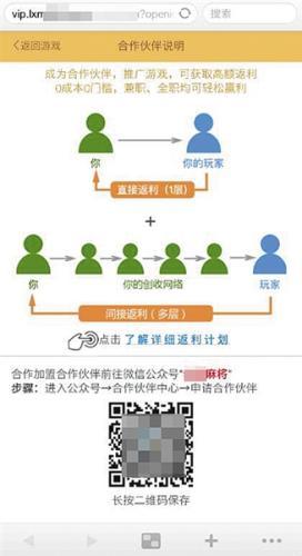 """""""老西麻将""""的返利计划介绍中,将代理分为5级,并通过图表的形式,明确标示各级代理的返利比例,以此来寻求代理发展下线。"""