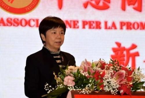 中国驻米兰总领馆汪惠娟副总领事出席中意商贸交流促进会年会并致辞。图片来源:欧联网