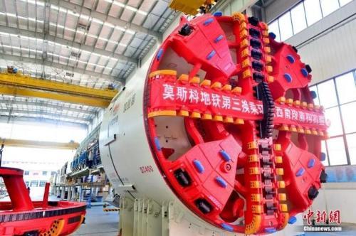 目前,中国产掘进机已占据全球三分之二的市场份额。铁建重工供图