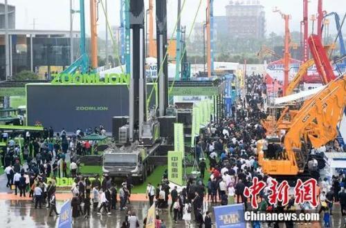 2019 长沙国际工程机械展览会现场。杨华峰摄