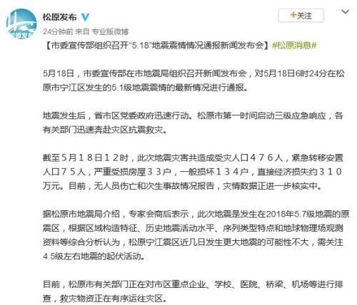 图片来源:松原市人民政府新闻中心官方微博