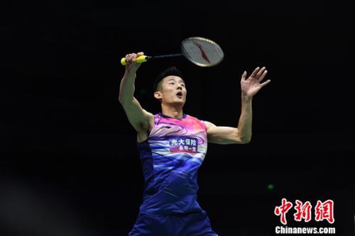 谌龙在比赛中 <a target='_blank' href='http://www.chinanews.com/'>中新社</a>记者 俞靖