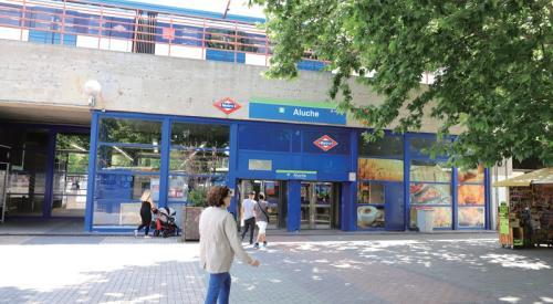 马德里Aluche地铁站。(圖片來源:欧洲时报记者林碧燕 摄)