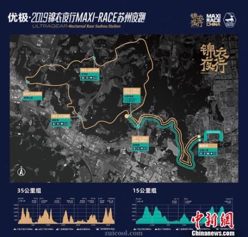 夜跑活动的两条路线基本位于山间。