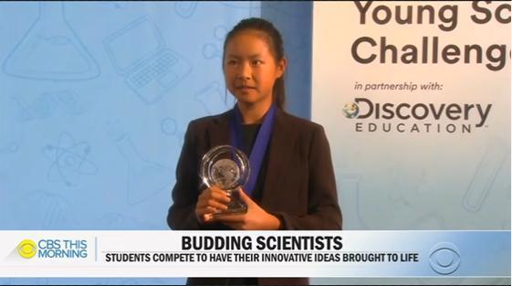 美14岁女生发明纳米绷带 在数百名同龄人中突围夺魁