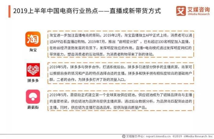 圖片來源:《2019中國電商半年度發展全景報告》。