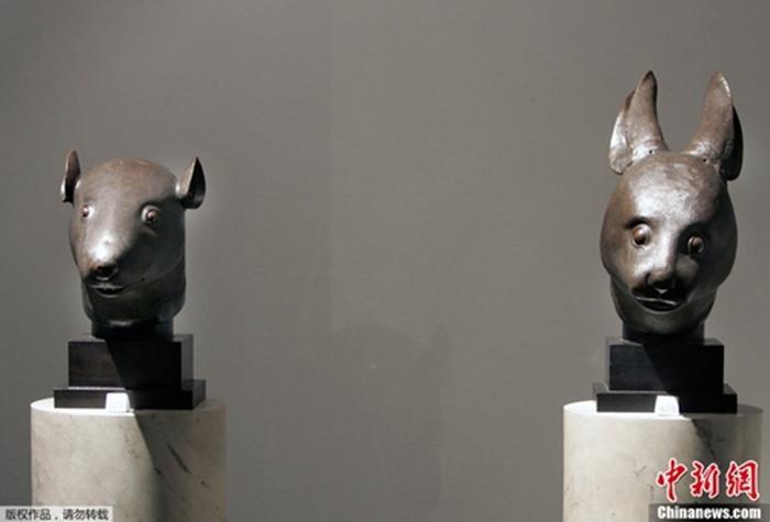 资料图:圆明园兔首和鼠首真品。
