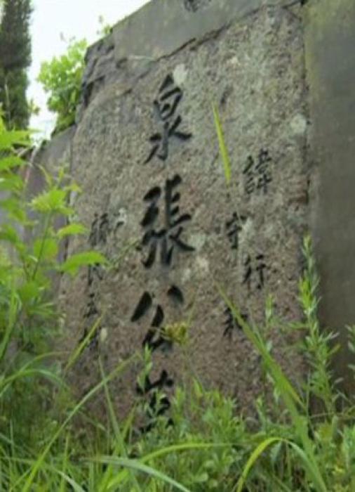 张静泉衣冠冢的墓碑。图片来自党建网