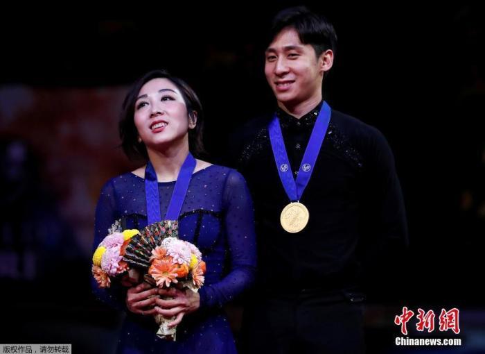 资料图:隋文静/韩聪2019年在花滑世锦赛上夺冠