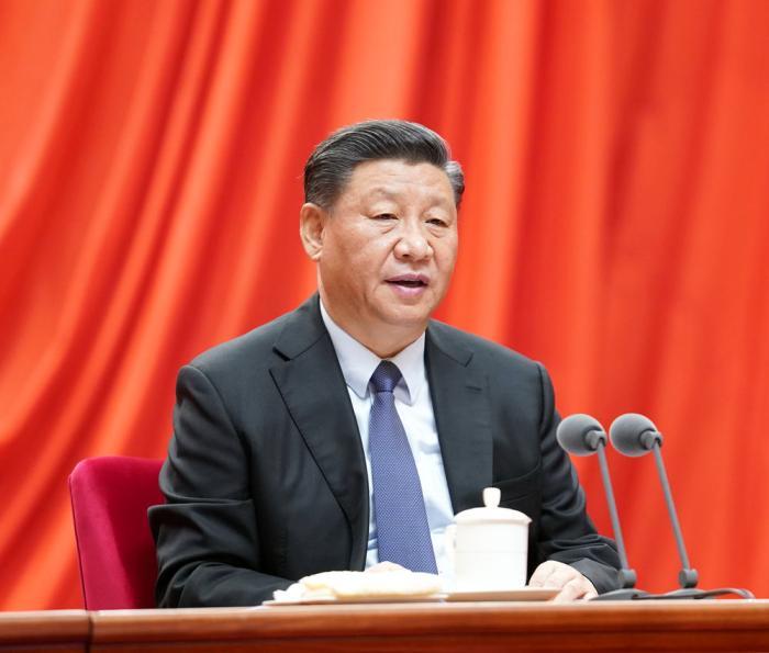 1月13日,中共中央总书记、国家主席、中央军委主席习近平在中国共产党第十九届中央纪律检查委员会第四次全体会议上发表重要讲话。新华社记者 黄敬文 摄