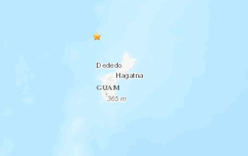 美国地质勘探局:关岛附近海域发生5.1级地震