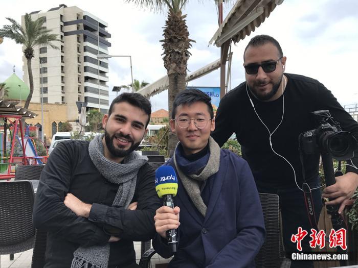 王宇批准黎巴嫩最大网络媒体Yasour的采访。受访者供图