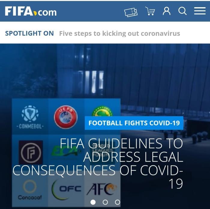 国际足联官网截图。