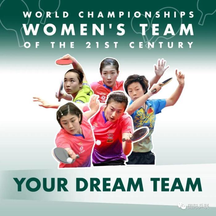 女乒梦之队阵容。图片来源:国际乒联