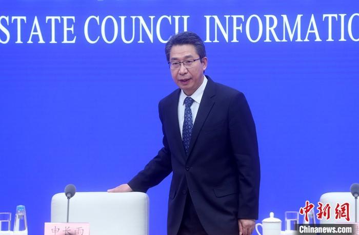 4月23日,国务院新闻办公室在北京举行新闻发布会,介绍2019年中国知识产权发展状况。中国国家知识产权局局长申长雨表示,2019年,知识产权在推进国家治理体系和治理能力现代化中扮演着更加重要的角色,知识产权强国建设加快推进。 <a target='_blank' href='http://www.chinanews.com/'>中新社</a>记者 张宇 摄
