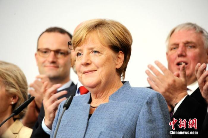 资料图:德国总理默克尔。