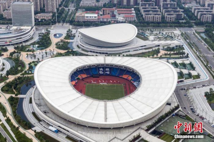 资料图:航拍苏州奥林匹克体育中心 中新社记者 泱波 摄