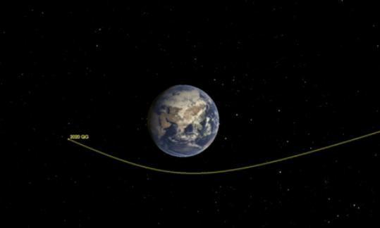 史上最近?小行星与地球擦肩而过仅距2950公里(图)