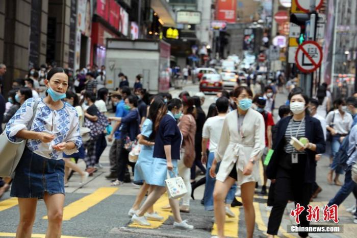 资料图:疫情下的香港街头。 <a target='_blank' href='http://www.chinanews.com/'>中新社</a>记者 洪帆 摄