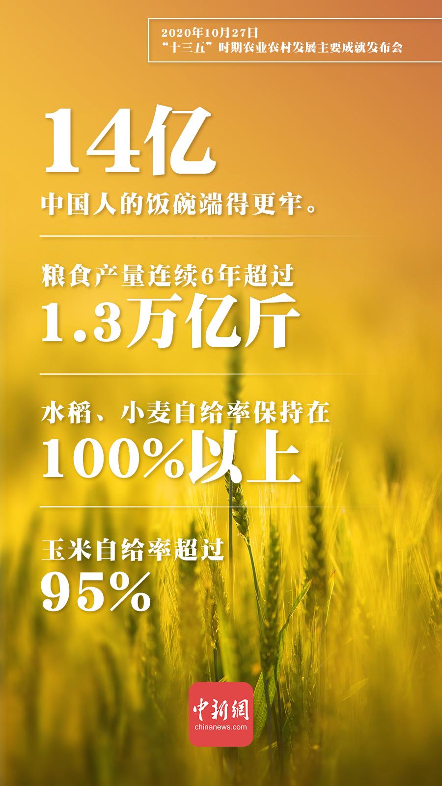 """农业农村部:""""十三五""""农业农村发展各项目标任务胜利完成"""