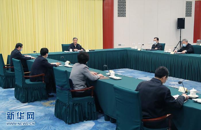 10月30日下午,全国政协党组在北京召开会议,专题学习贯彻党的十九届五中全会精神。中共中央政治局常委、全国政协主席、党组书记汪洋主持会议并讲话。 新华社记者 姚大伟 摄