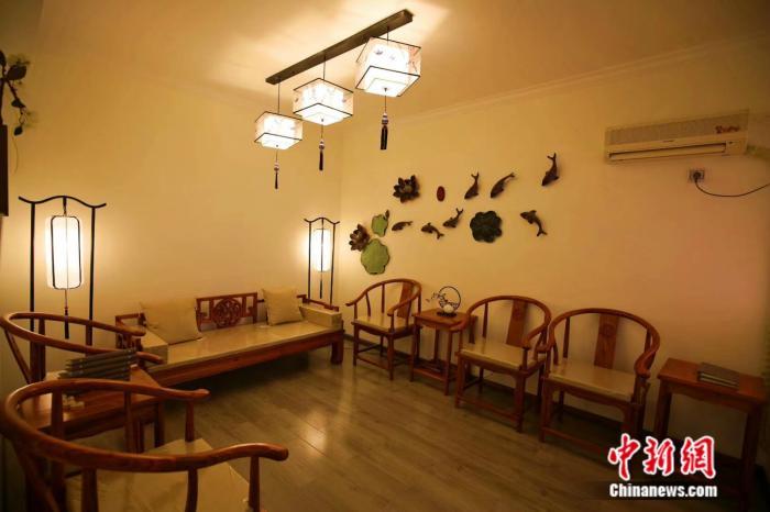 武汉的一家剧本杀店铺猫猫侦探社的内部实景。 受访者供图