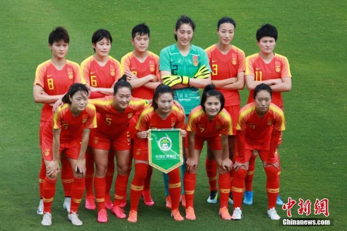 2020年2月10日,东京奥运会女足亚洲区预选赛B组比赛在悉尼进行。中国队以5:0战胜中国台北,晋级附加赛。<a target='_blank' href='http://www.thr111.cn/'>中新社</a>记者 陶社兰 摄