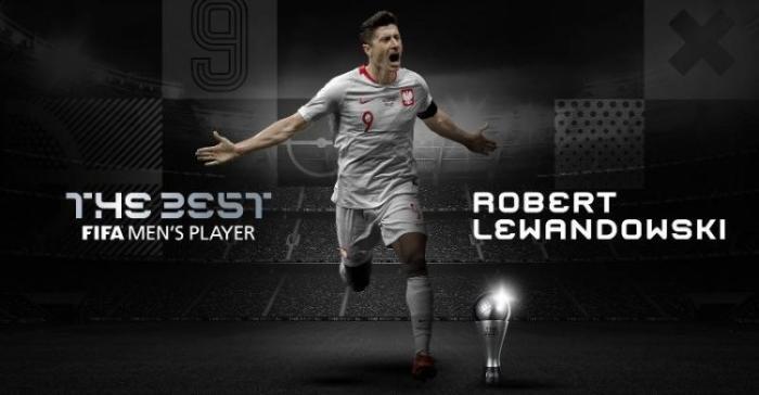莱万多夫斯基成功当选世界足球先生。图片来源:FIFA官网