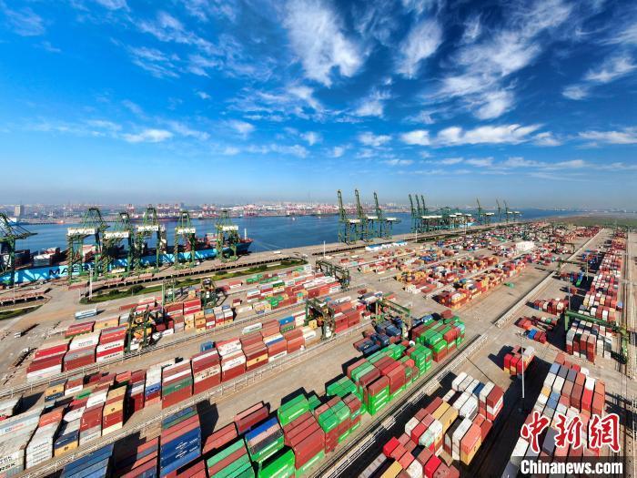 图为天津港集装箱码头。天津港集团供图