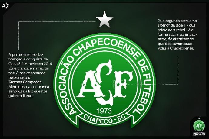 新队徽。 图片来源:沙佩科恩斯网站