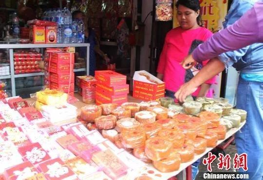 """唐人街里售賣的閩南風味的""""甜粿""""。林永傳 攝"""