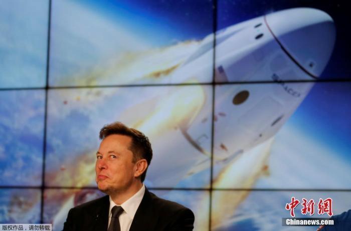 资料图:特斯拉CEO、美国太空探索技术公司创始人马斯克。