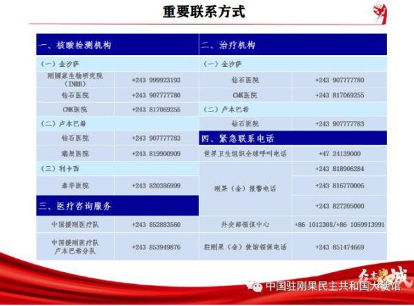驻刚果(金)大使馆提醒中国公妓女的生活民遵守各项防疫措施