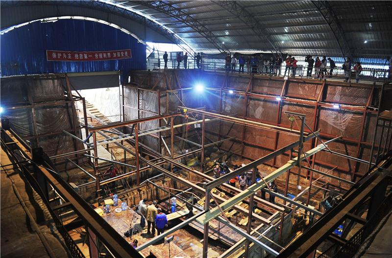 位于江西南昌的西汉海昏侯墓发掘现场