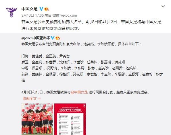 韩国女足大名单。