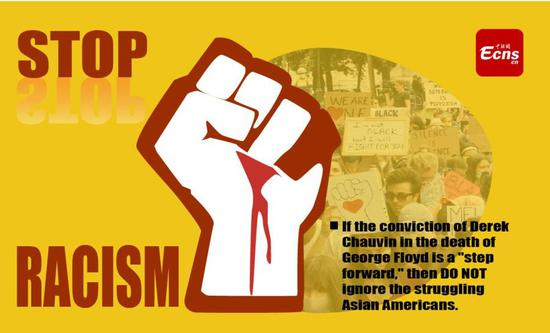 The struggle against racial discrimination in America is far from over. (Picture designed by Yao Lan)